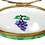 Thumbnail: BUTTERFLY ON GRAPES LIMOGES BOX