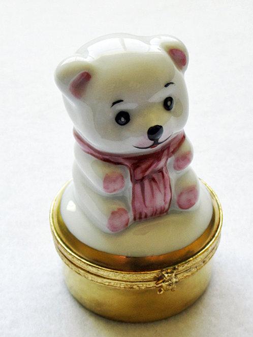Limoges porcelain bear box
