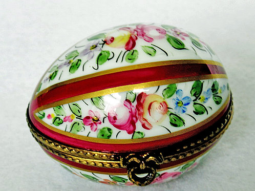 Limoges hand painted egg