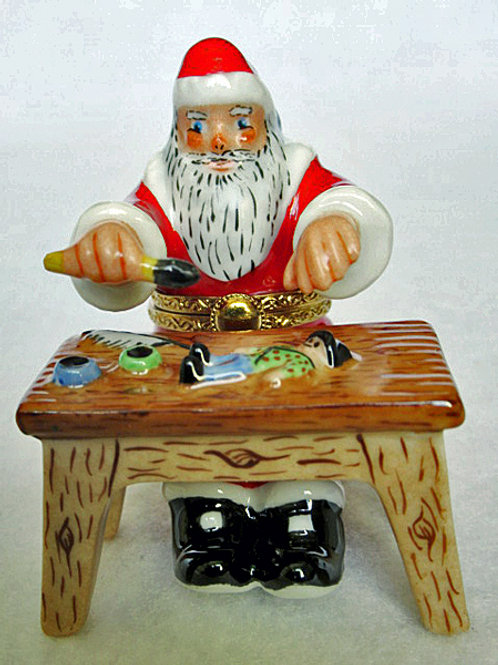 Limoges Santa at workshop