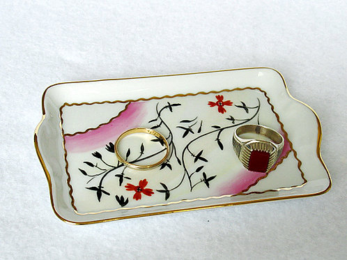 Limoges hand painted catch-all tray
