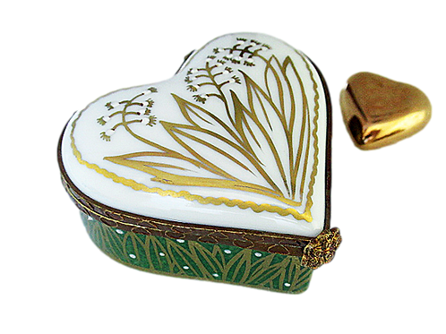 FLORENCE LIMOGES HEART BOX
