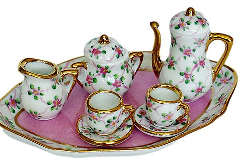 LIMOGES MINI PINK TEA SET