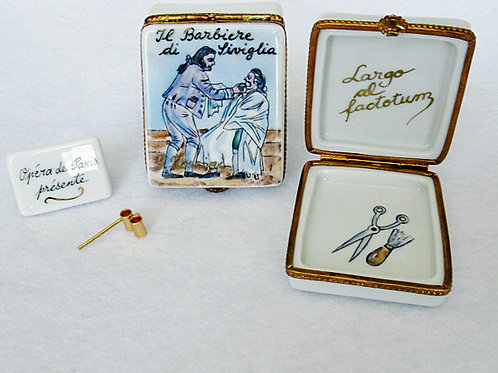 LImoges hand painted Barber of Seville opera box