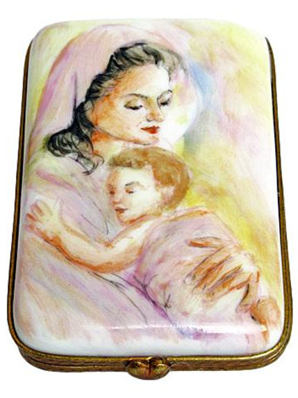 """MOTHER"" MULTILINGUAL LIMOGES BOX"