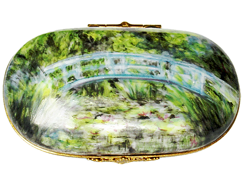 "MONET ""JAPANESE BRIDGE"" LARGE LIMOGES"