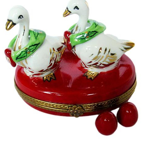 CHRISTMAS LIMOGES GEESE