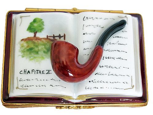 BOOK AND PIPE LIMOGES