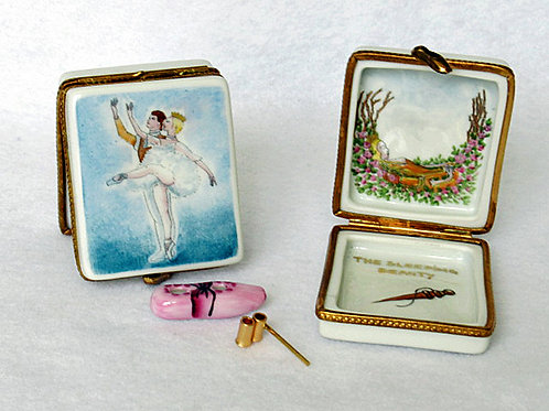 Sleeping Beauty ballet, Limoges hand painted porcelain box