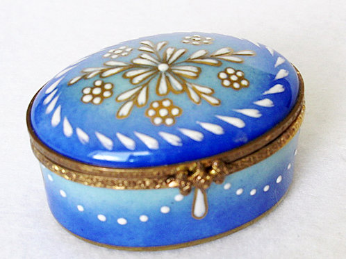 Limoges hand painted oval box