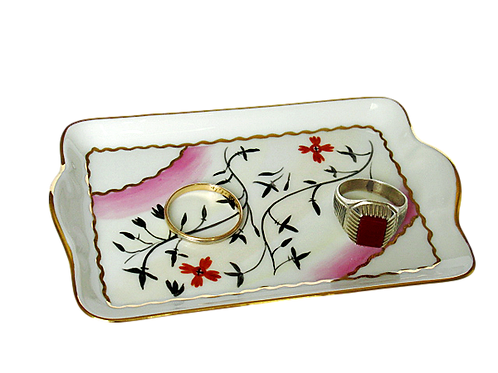 TRAY, LEAVES LIMOGES