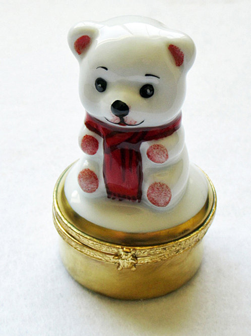 Limoges hand painted porcelain teddy bear