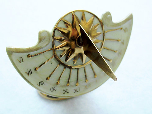 Limoges hand painted sundial box