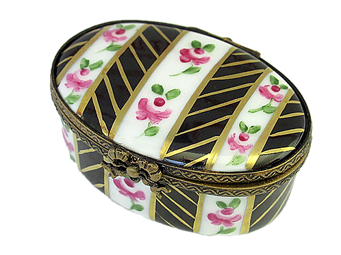 NOCTURNE HANDPAINTED LIMOGES BOX