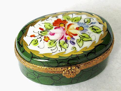 Limoges handpainted pillbox