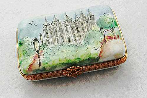 LDS temple, Limoges hand painted box