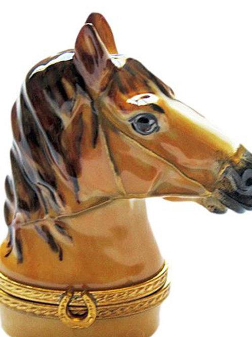 HORSE BUST LIMOGES BOX