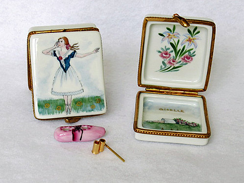 Giselle ballet hand painted porcelain box