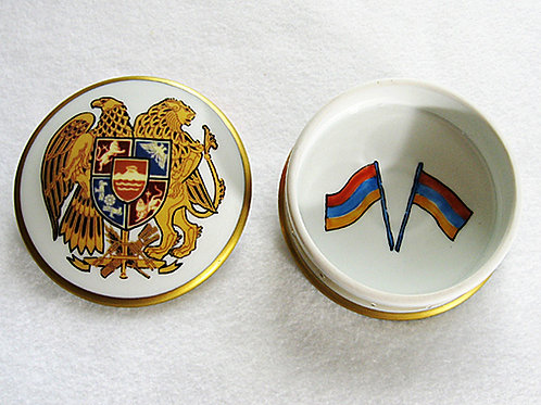 Limoges porcelain hand painted coat of arms ofArmenia