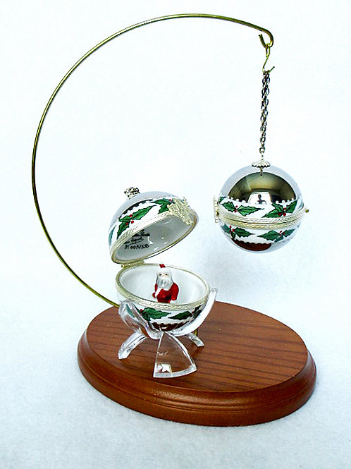 """CHRISTMAS LIMOGES ORNAMENT """"SILVER"""""""