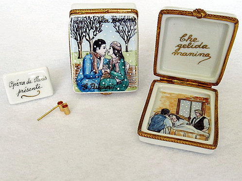 Limoges porcelain La Boheme opera hand painted box