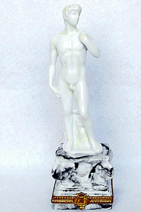 """Limoges porcelain """"David"""" statue"""