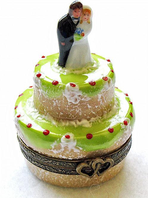 WEDDING CAKE LIMOGES BOX
