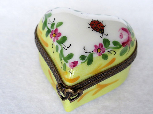 LIMOGES HANDPAINTED HEART BOX