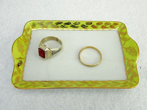 hand painted Limoges catch-all tray