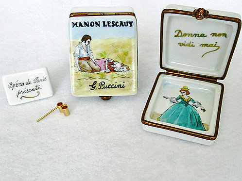 Manon Lescat opera hand painted Limoges porcelain box