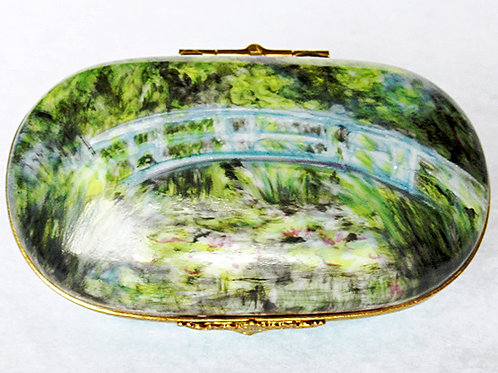 "Limoges porcelain Monet's ""Japanese  Bridge"" box"