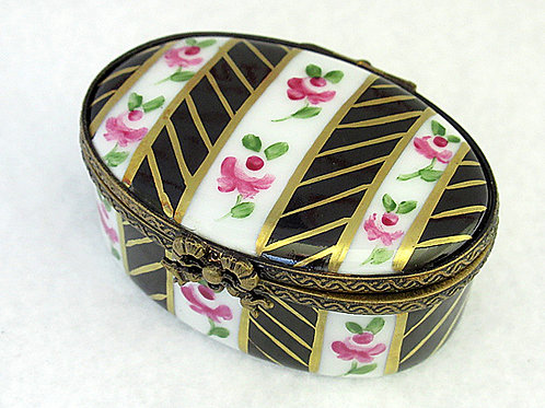 LIMOGES HANDPAINTED PILLBOX