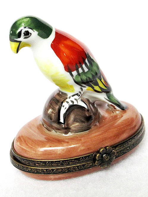 Limoges porcelain hand painted parrot