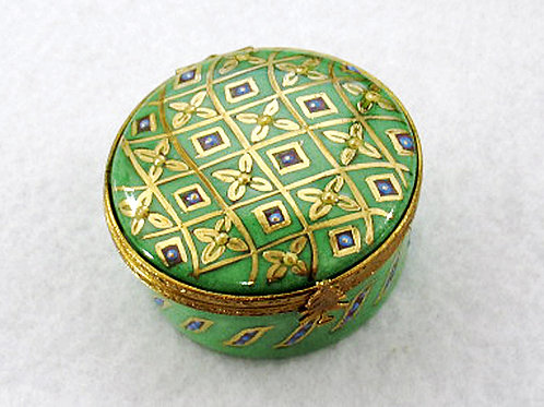 Limoges hand painted Christmas box