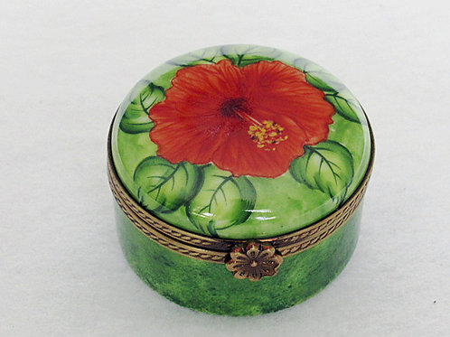 Limoges hibiscus collectible box
