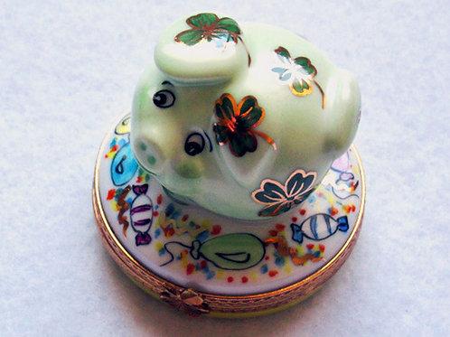St. Patrick's day Limoges porcelain box