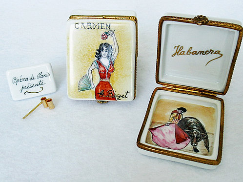 Limoges porcelain hand painted CARMEN opera box