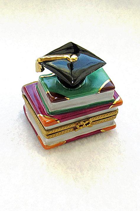 COMMENCEMENT BLACK CAP LIMOGES BOX