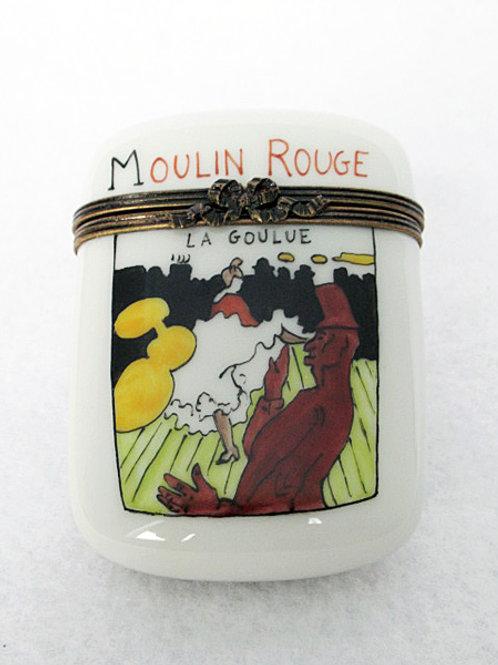 """Lautrec """"La Goulue"""" Mounlin Rouge Limoges porcelain box"""