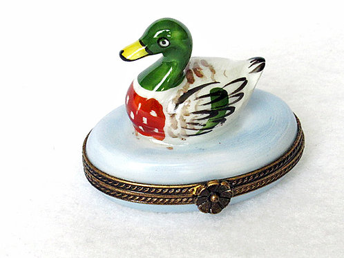 Limoges porcelain hand painted mallard