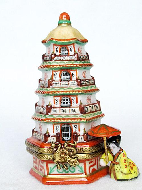 Limoges Pagoda Box