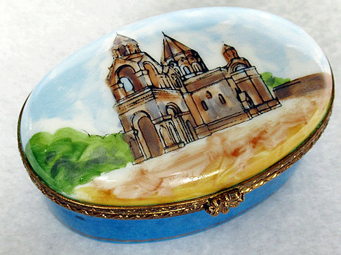 Etchmiatzin cathedral Limoges handpainted box