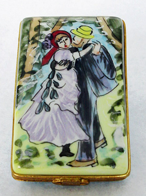"Renoir's ""Countryu Dance"" Limoges hand painted porcelain box"