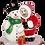 Thumbnail: SANTA & SNOWMAN LIMOGES