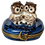 Thumbnail: ROMANCING OWLS LIMOGES BOX