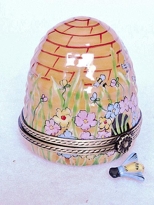 Limoges handpainted beehive