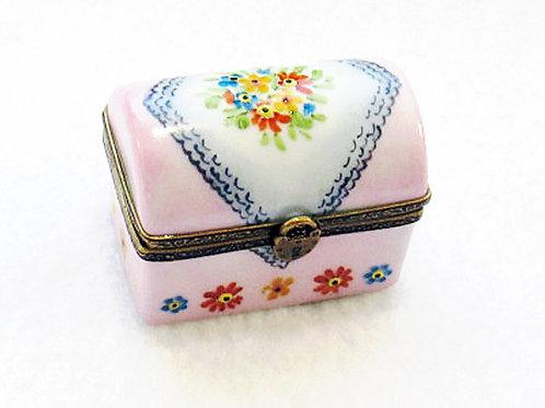 Limoges handpainted trunk box