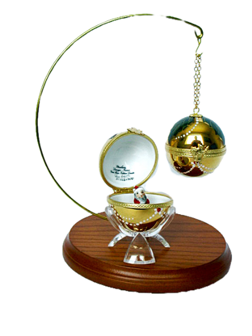 """CHRISTMAS LIMOGES ORNAMENT """"GOLD"""""""