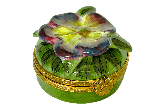 PANSY LIMOGES BOX
