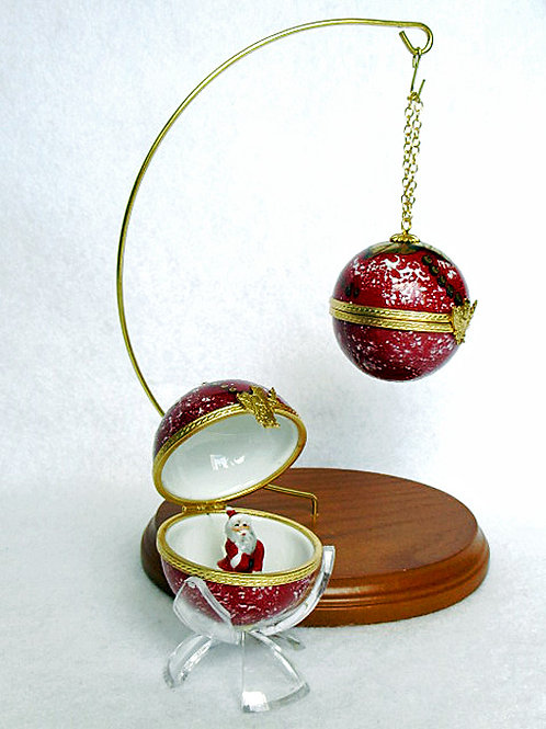 "CHRISTMAS LIMOGES ORNAMENT  ""RED"""